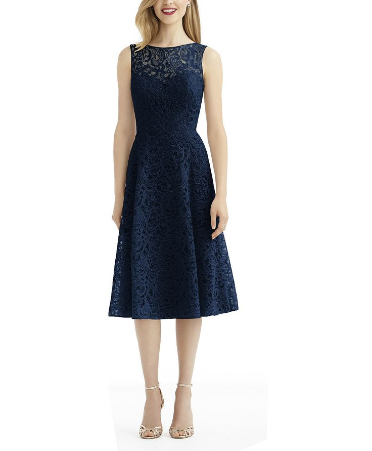 DescriptionAfter Six Style 6738Tea length bridesmaid ...