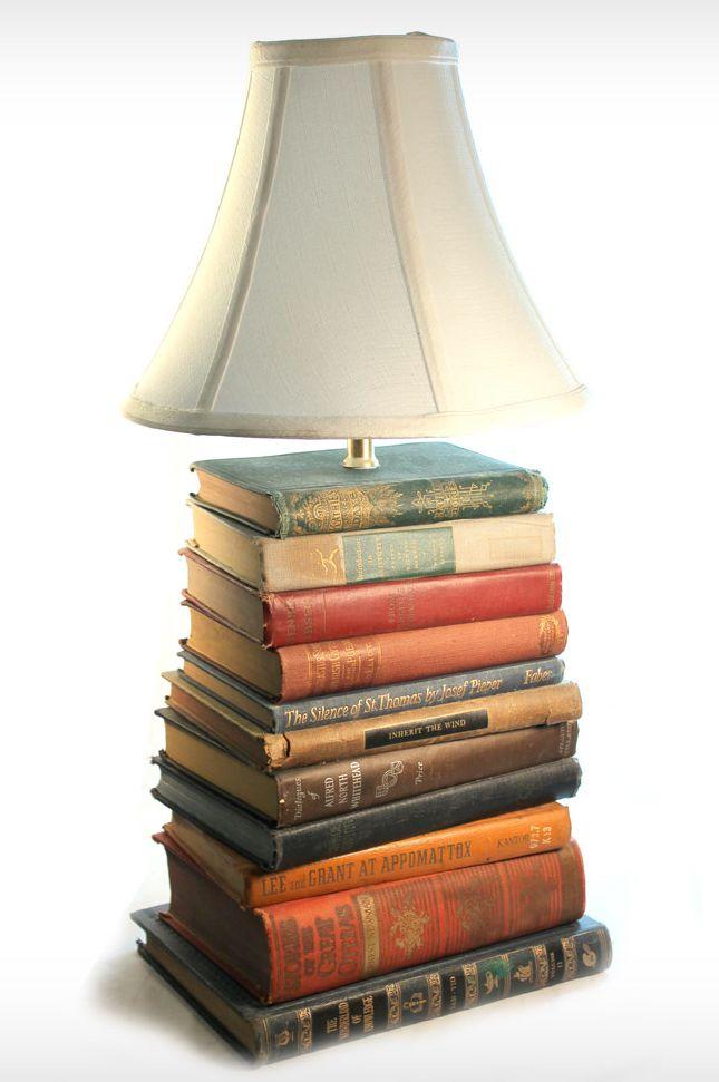 Vintage Book Lamp -  DIY idea