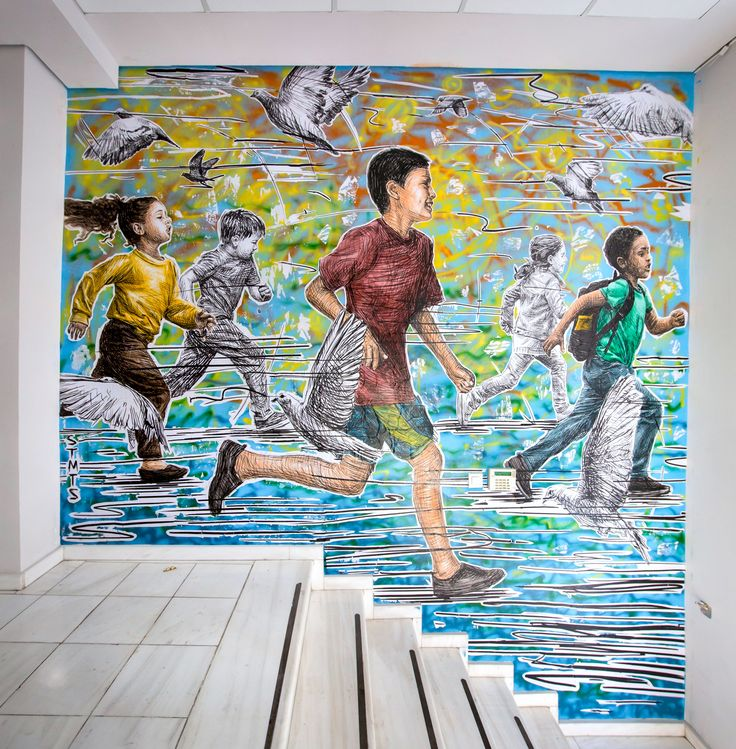 STMTS Interior mural for the Doctors Without Borders / Medecins Sans Frontieres (MSF) head offices in Greece