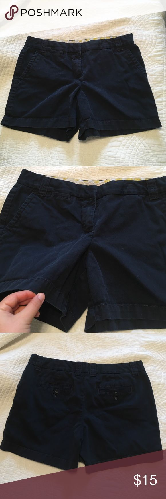"""Navy Blue J. Crew 5"""" Chino Shorts Classic Preppy Great condition! Worn once! Navy blue, 5"""" inseam, size 8, from J. Crew J. Crew Shorts"""