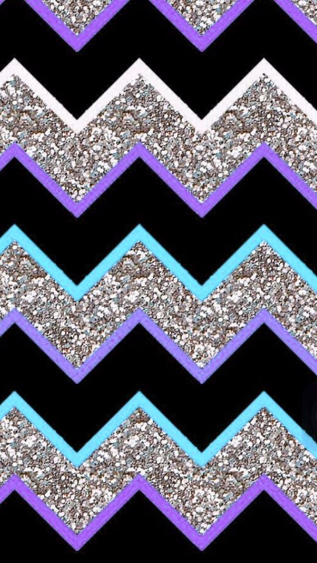 Purple teal grey glitter chevron iphone wallpapers for Teal chevron wallpaper