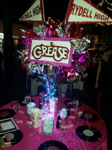 Grease party decorations