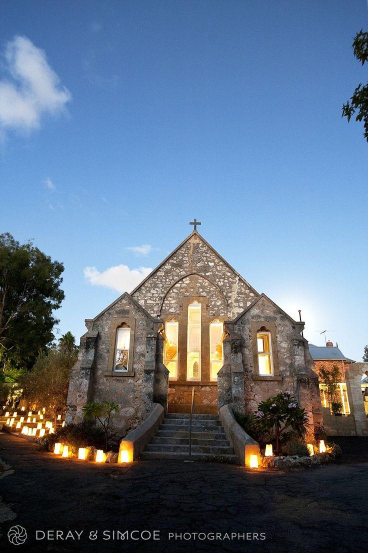 Beautiful lantern lit church