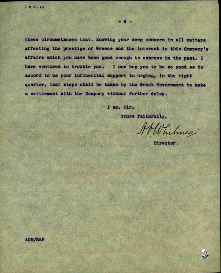 letter to El Benizelos contd