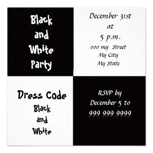 90 best Black n White Parties images – Black and White Party Invites