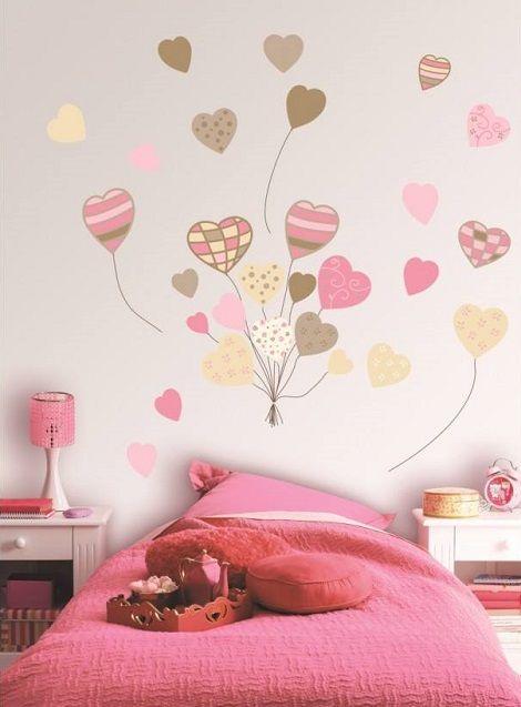 Las 25 mejores ideas sobre paredes de dormitorio de ni a for Vinilos decorativos dormitorios juveniles