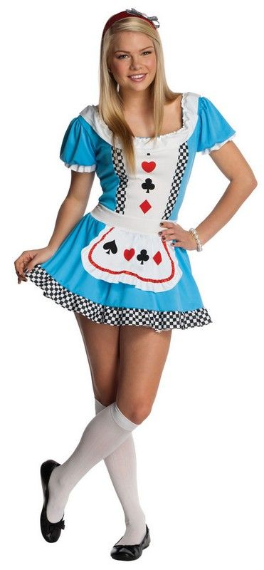 Alice Costume for Teenage Girls $33.34 timeless and always in style fairy tale alice halloween costume for teens. alice outfit includes: the dress and headband. Teens Halloween Costumes