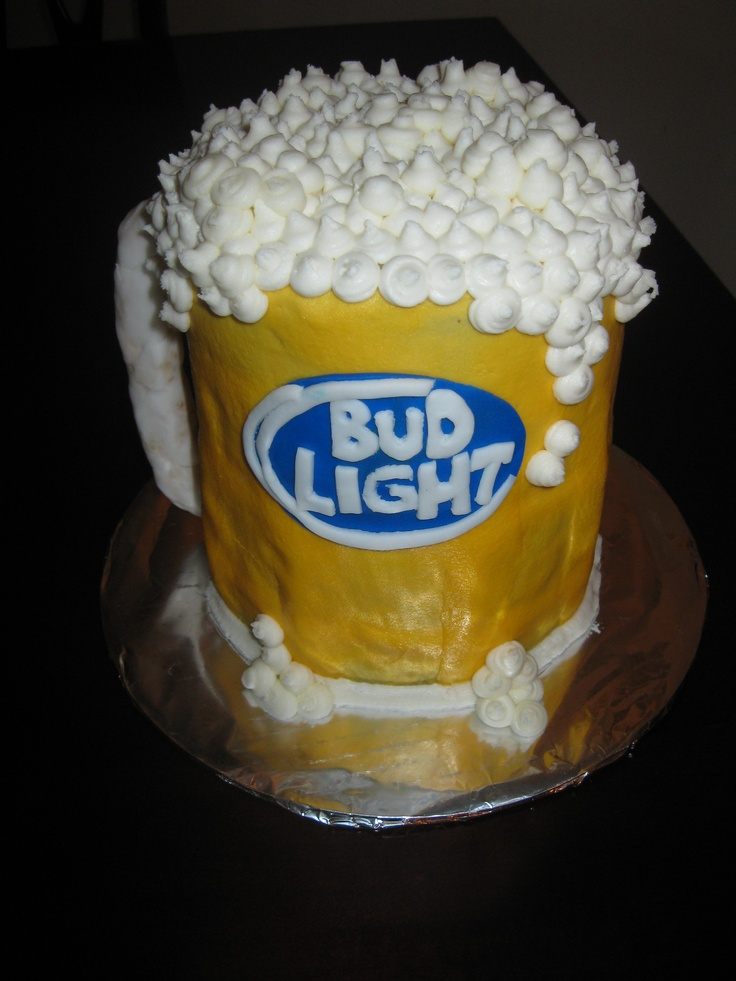 Beer Cake Design Ideas : beer! bud light cake Birthday ideas Pinterest