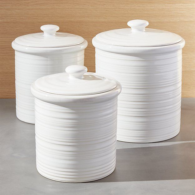Farmhouse Canisters | Crate and Barrel