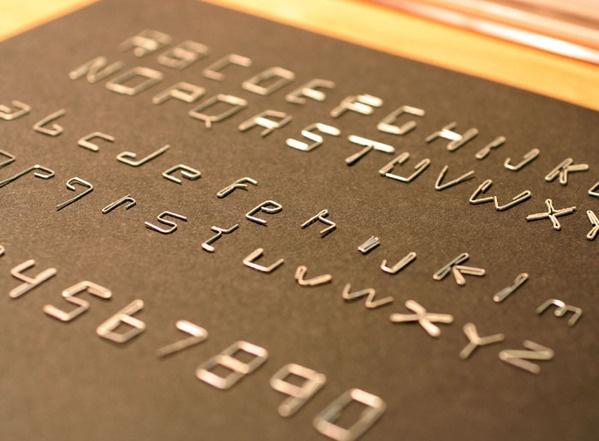 Staple typeface by Laszlo Sandor, via Behance