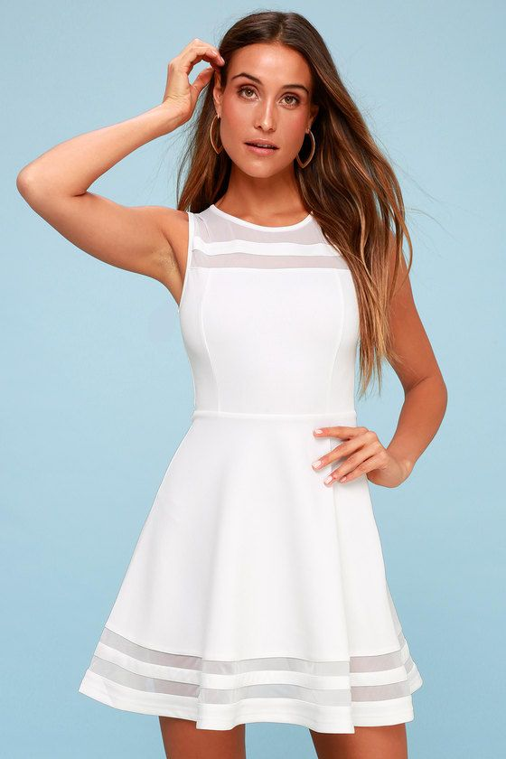 You can make it to every finish line with the Final Stretch Ivory Dress to  push you through! Thick off-white fabric stretches easily from waist to  swirling ... be80b6204