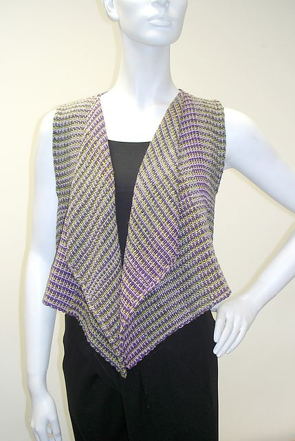 A more open vest, handwoven. I can see palying around with colors here. Ravelry: shangold's Handkerchief Vest