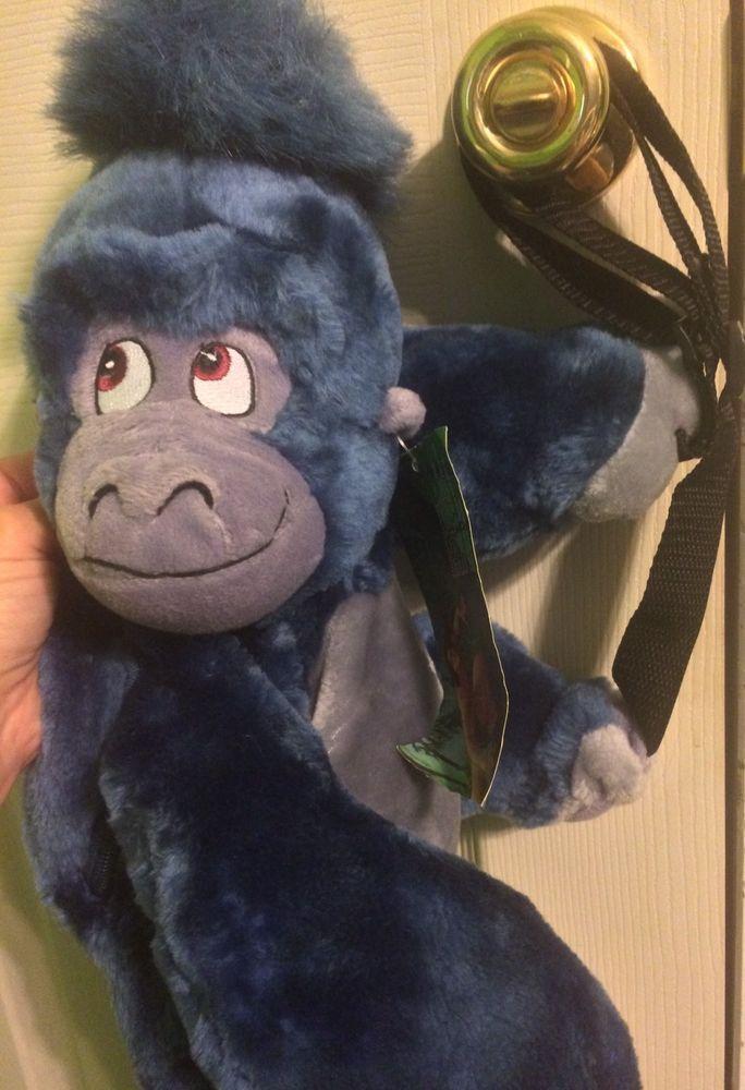 "Disney Tarzan Gorilla Terk / Turk Plush Backpack, 18"" Backpack, NEW With Tags #Disney"
