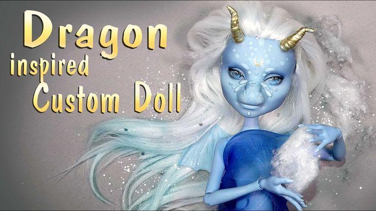 How To Simple Dragon Custom Doll Tutorial / DIY Monster High Repaint