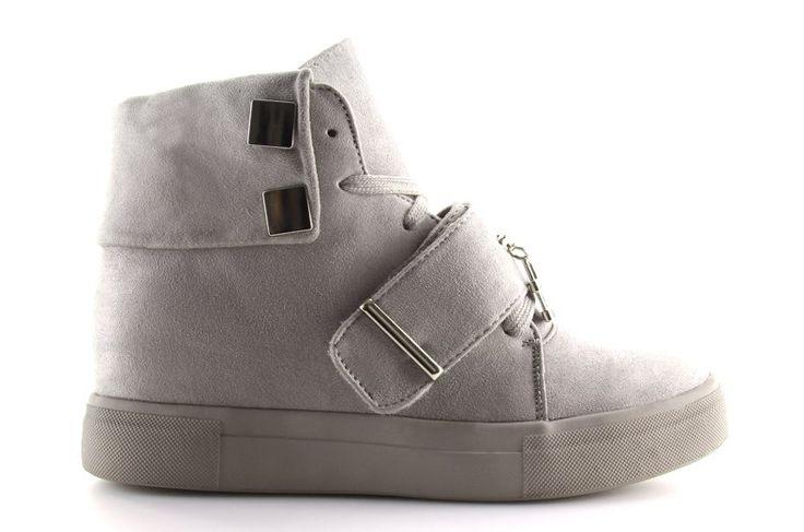 #Pozostałe #Sportowe #Damskie #ObuwieDamskie #Sneakersy #Damskie #Szare #Nc158 #Obuwie #Damskie