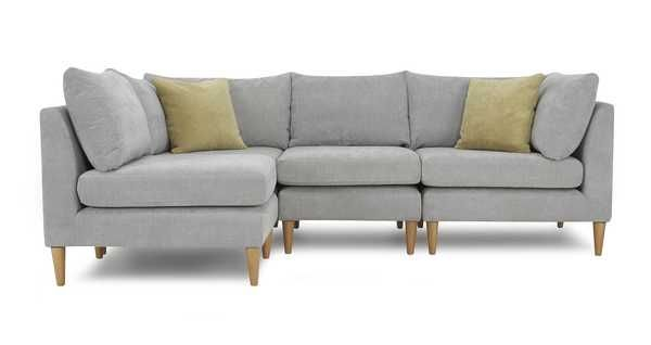 4 Piece Corner Sofa Jigsaw Plain