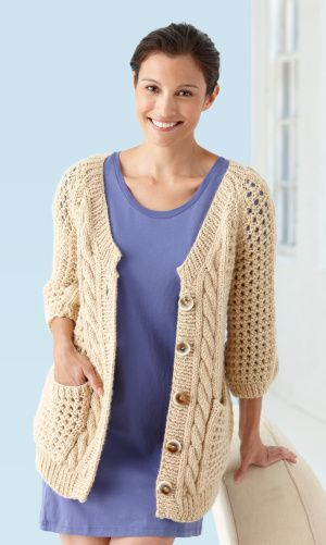 Cables And Lace Cardigan-new sweater for February at the lion brand yarn store NYC. Nothing about it yet at ravelry.  thoughts?