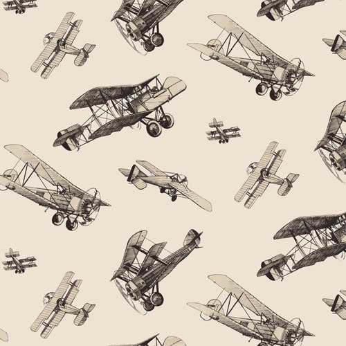 """When it comes to retro vintage, there are prints that I mostly dislike, BUT there are the few that I absolutely adore, like this one.    """"Airplanes Vintage"""" at $98.99 per roll."""