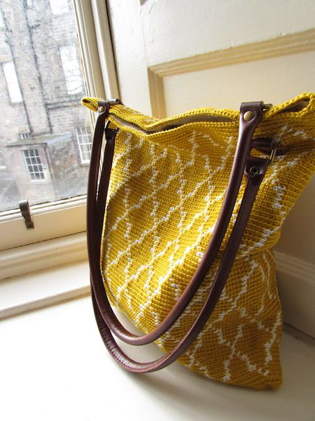 My Moroccan bag! New crochet design, pattern will follow soon!