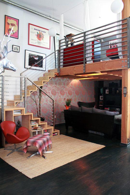 Celeste & Nicolai's Modern Art Loft house tour, Apartment Therapy.