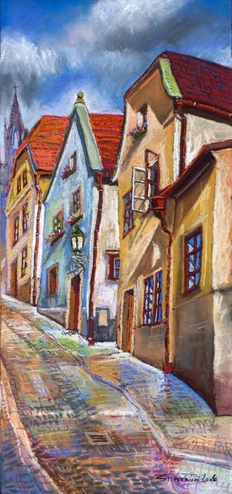 Cesky Krumlov Old Street...Yuriy Shevchuk