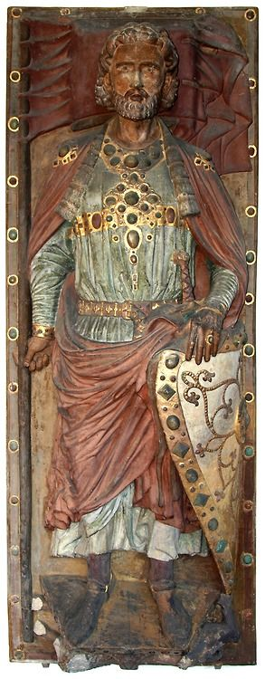 Tomb cover slab of count Wiprecht of Groitzsch (died 1124). Saxony, second quarter of the 13th century.