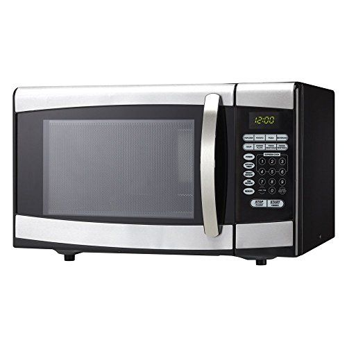Danby DMW099BLSDD 0.9 cu.ft. Microwave Oven – Black with Stainless Steel