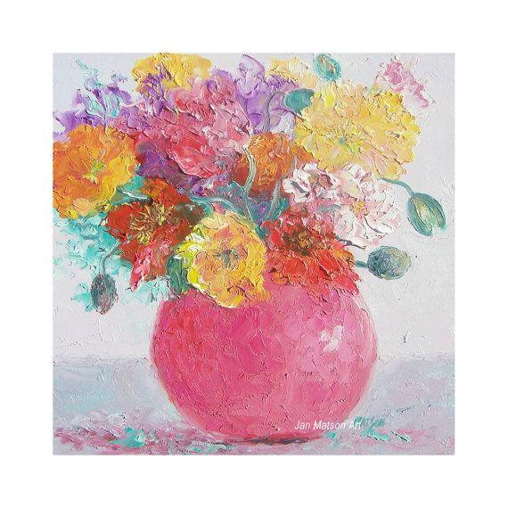Best 100+ Flower Paintings, floral, living room decor, cottage decor ...