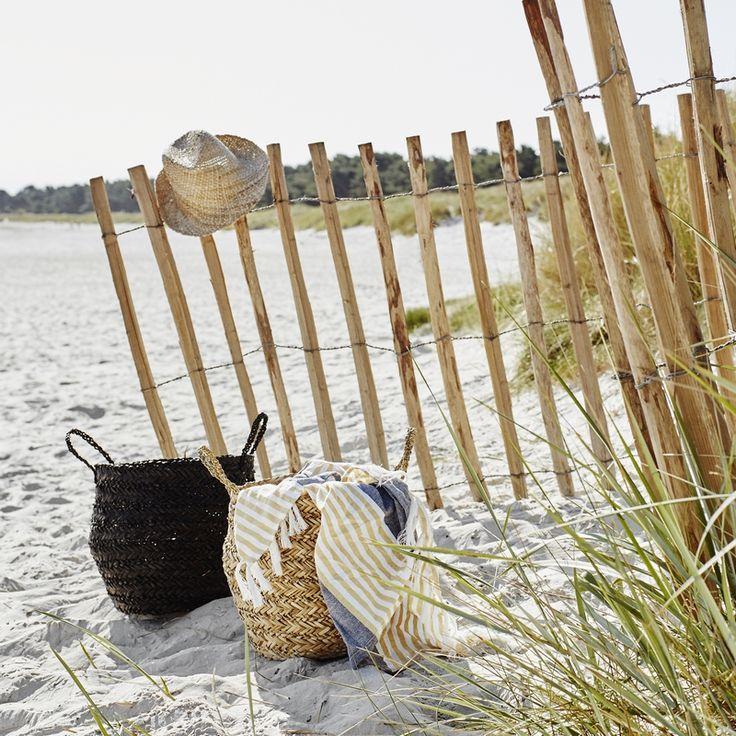 Les paniers boules pour un pic nic chic et bohème à la plage