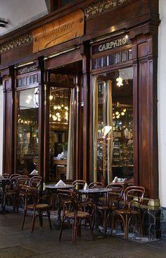 Makes me think of my extended Italian family. Caffè Mulassano. Turin, Italy