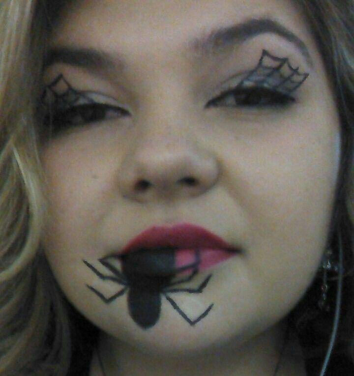 Spider makeup by Ashleigh : Halloween : Pinterest