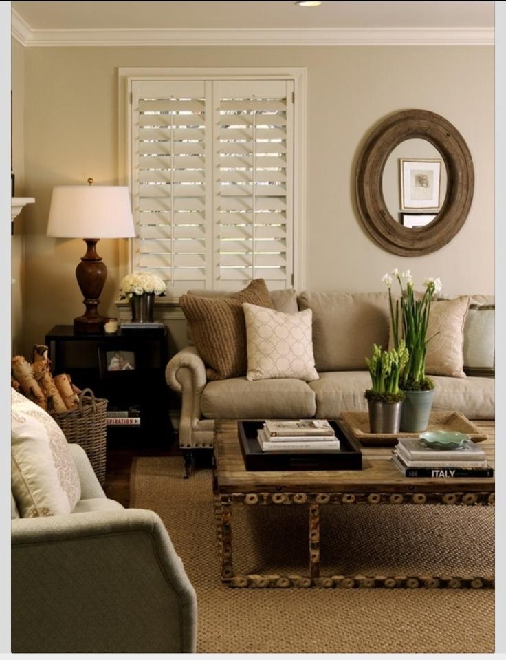 Neutral Living Room: Harrison House: Back To Basics: Our Living Room