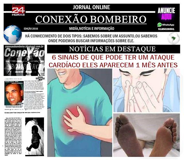 CONEXÃO BOMBEIRO : 6 SINAIS DE QUE PODE TER UM ATAQUE CARDÍACO! ELES ...