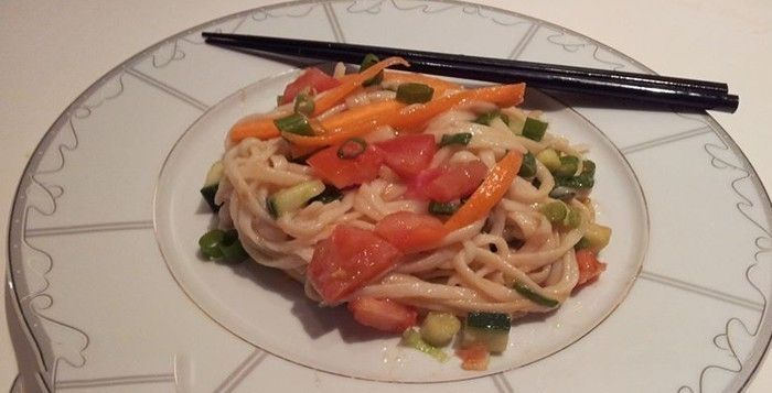 Japon Udon Noodle Salatası | Vegan Mutfak