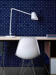 papier peint LAVMI Alphabet bleu