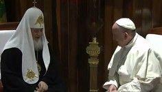 Katolik ve Ortodoks kiliseleri Küba\'da bir araya geldi
