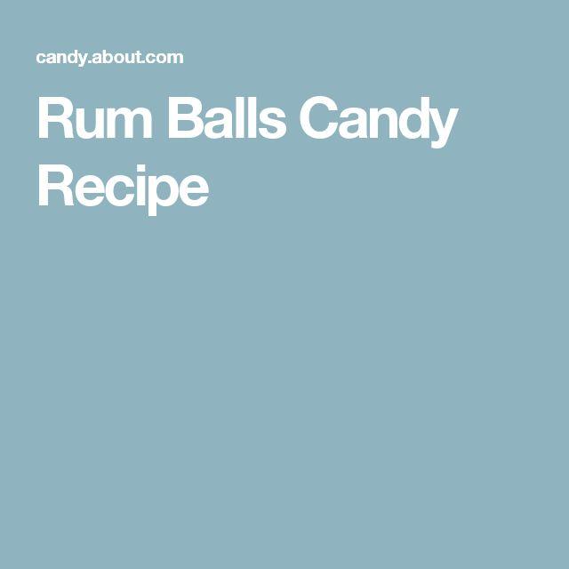 Rum Balls Candy Recipe