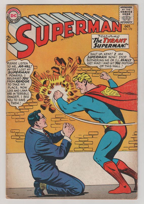 Superman V1 172.  FN.  October 1964.  DC by RubbersuitStudios #superman #comicbooks