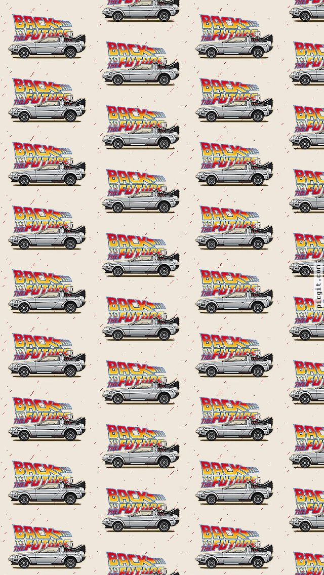 Whatsapp Wallpapers Back to the future multicolored