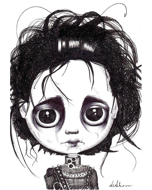 Edward Scissorhands Big Eyes Art Whimsical Art Alice In
