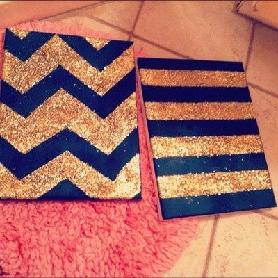 Glitter canvas. So doing this!