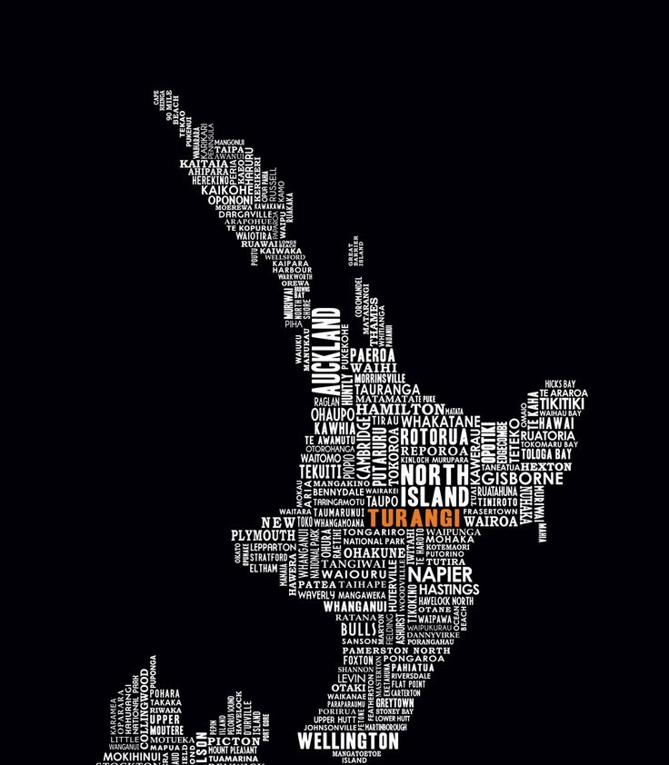 Turangi in Orange!  Order a typography map of new zealand in with your town/ city highlighted in color. https://www.facebook.com/pages/Support-the-Cuzzys-Canvas-Wall-Art/175150715993759
