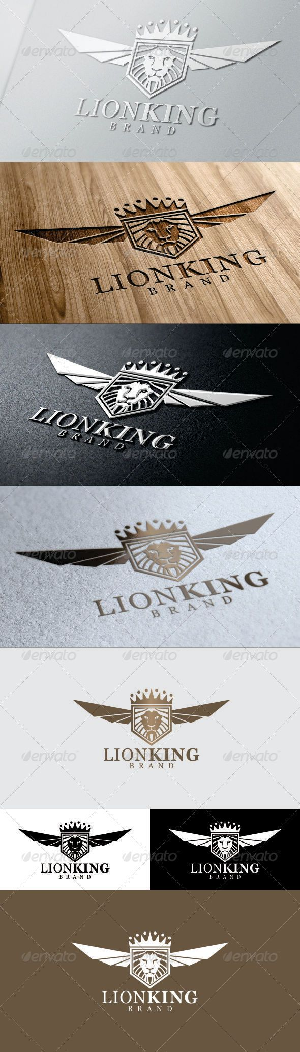 Lion King (Wings & Crown) Logo #GraphicRiver 100% Editable files in these file formats (EPS, AI, CDR) font used: Vani 2 Variations Included in Downloads: Normal, Reverse! if you need help please contact me any time. Please Rate This Item if you like… Created: 11 December 13 Graphics Files Included: Vector EPS #AI Illustrator #CorelDRAW CDR Layered: Yes Minimum Adobe CS Version: CS Resolution: Resizable Tags Animal Logo