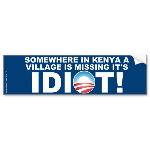 Somewhere In Kenya Bumper Sticker