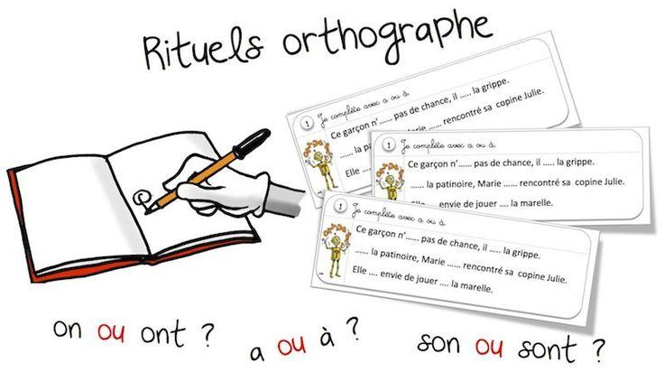 """Rituels """"orthographe"""" : les homophones grammaticaux - Bout de gomme"""