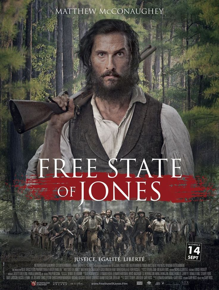 Newton Knight and Matthew McConaughey as Knight in the Free State