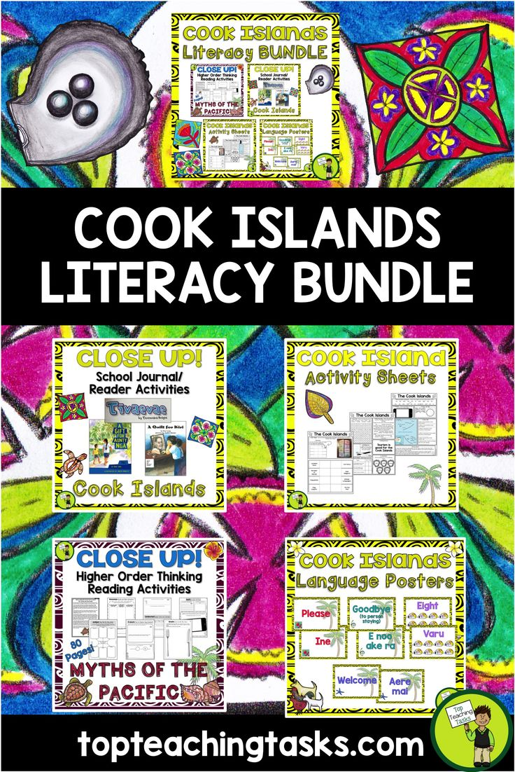 This would be perfect to use during Cook Islands Language Week - Te epetoma o te reo Māori Kuki Airani - 30 July to 5 August, 2017. This Cook Islands bundle of differentiated reading, writing, thinking activities and language posters is a great way to focus on the Cook Island Māori language and culture in your classroom.