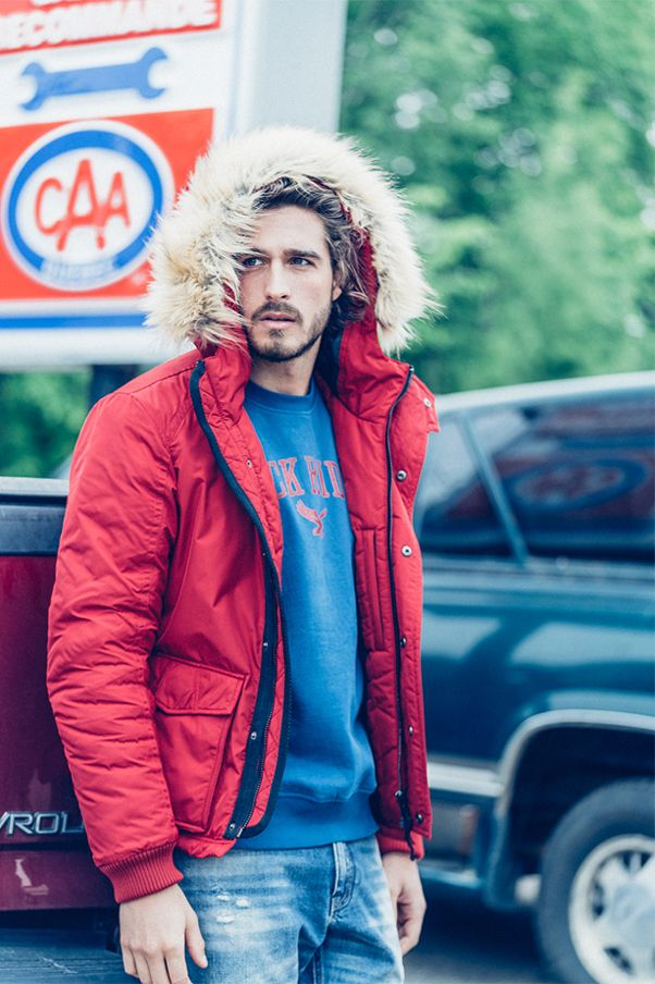 Reserved YFL Man AW16 #red#down#jacket