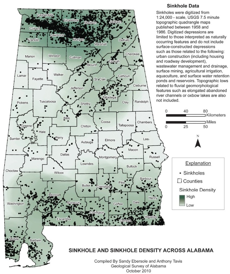 Sink Holes In Alabama Map This Sort Of Stuff Keeps Me Up At - Map of us sinkholes