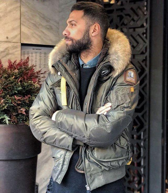 Parajumpers fur Pelz Parka jacket  fetish down Daunen daunenjacke
